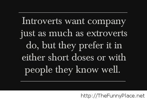 True story about introversion…