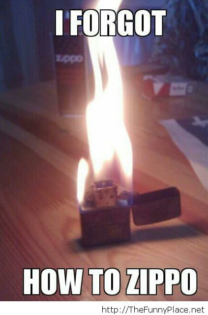 After refilling my zippo