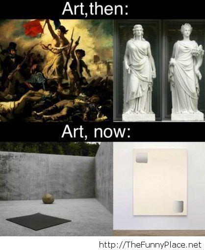 Art, then vs now