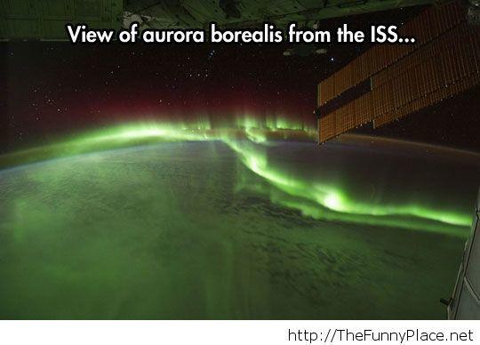 Aurora Borealis form space...