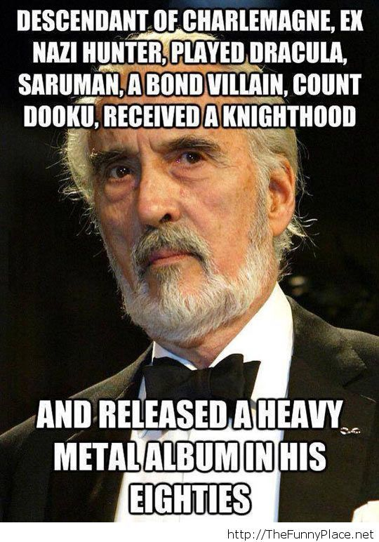 Awesome Christopher Lee
