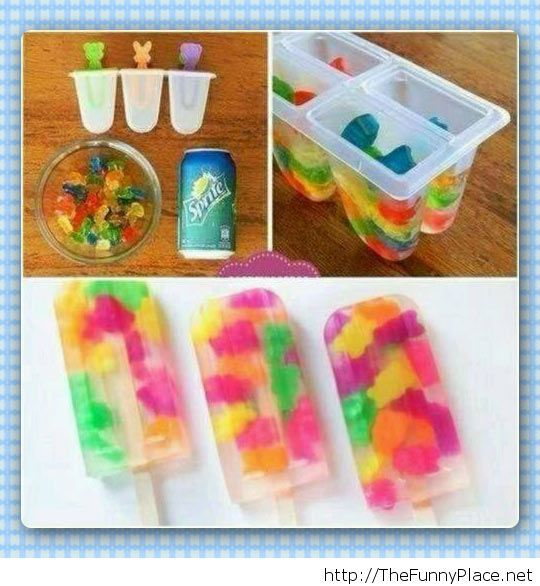 Awesome gummy bear popsicles