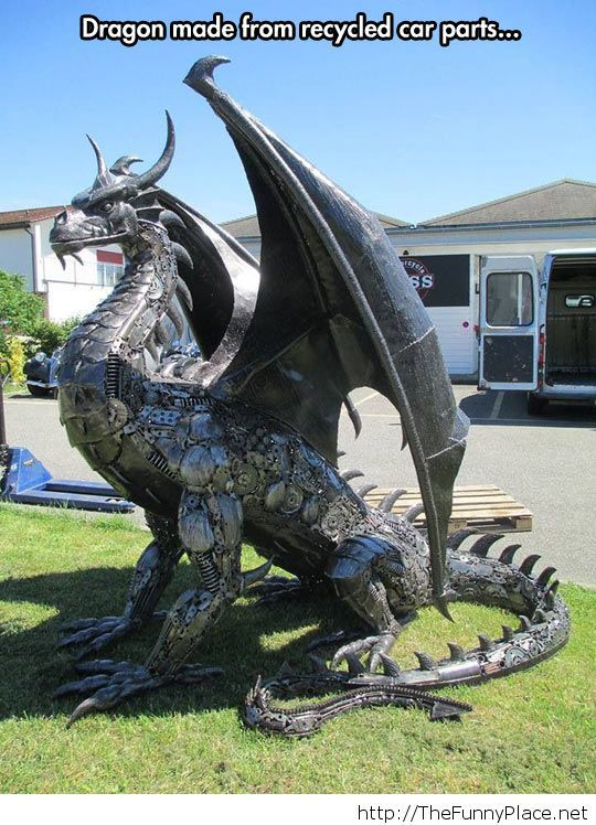 Awesome metal dragon