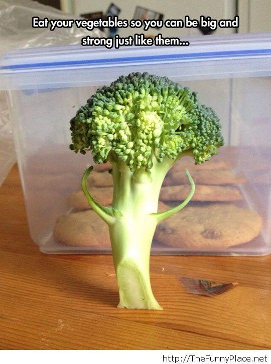 Broccoli skipped arm day…
