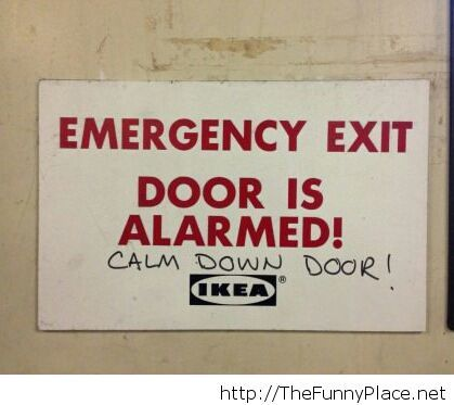 Easy there, door...