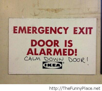 Easy there, door...