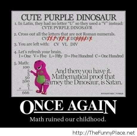 Math ruined our childhood