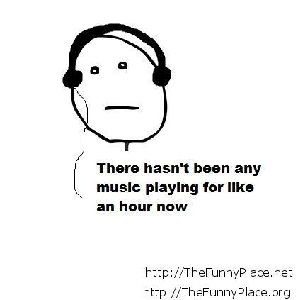 No music playing