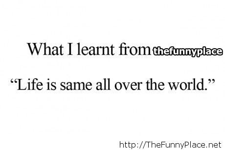 What I learnt...