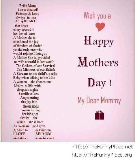 Wish you a happy mothers day quote