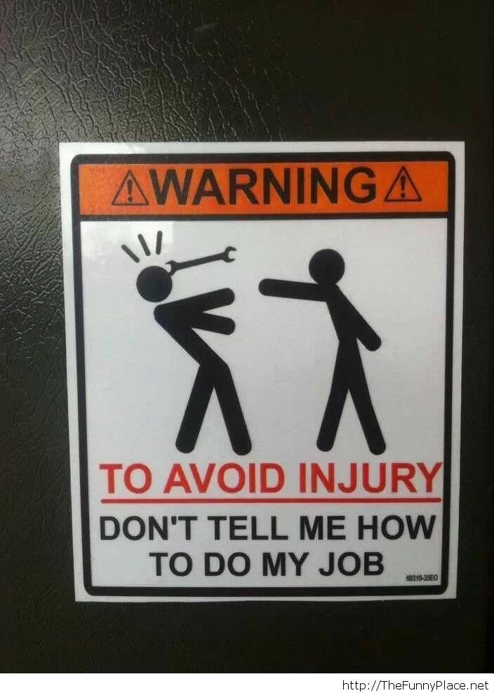Avoiding injury at work