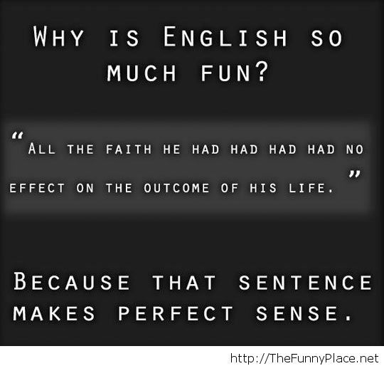 Because of the awesome sentences