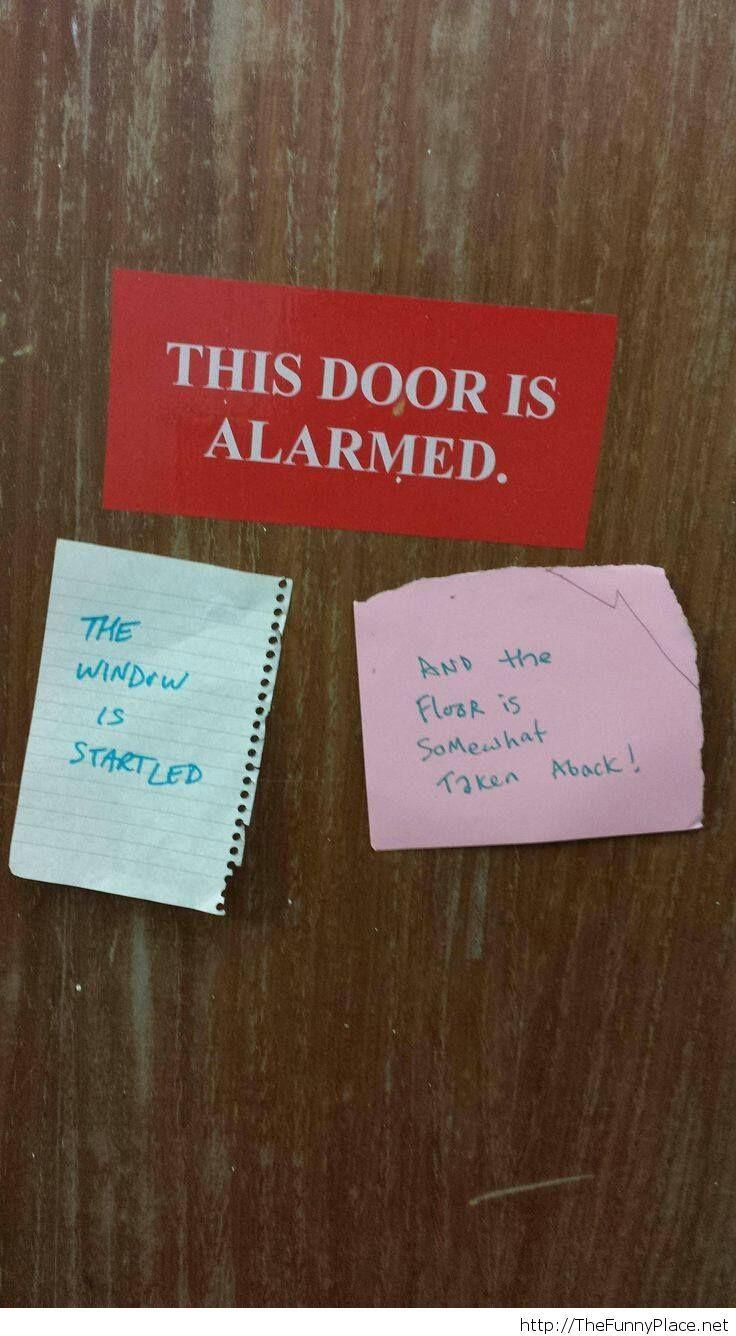 Calm down, door!