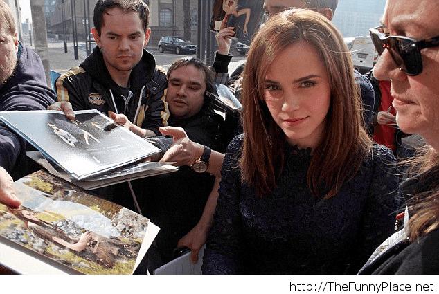 Emma Watson's stare