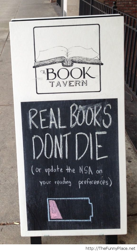 Local bookstore sign