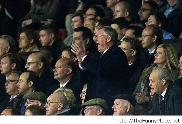 Look who cheered for Manchester United...