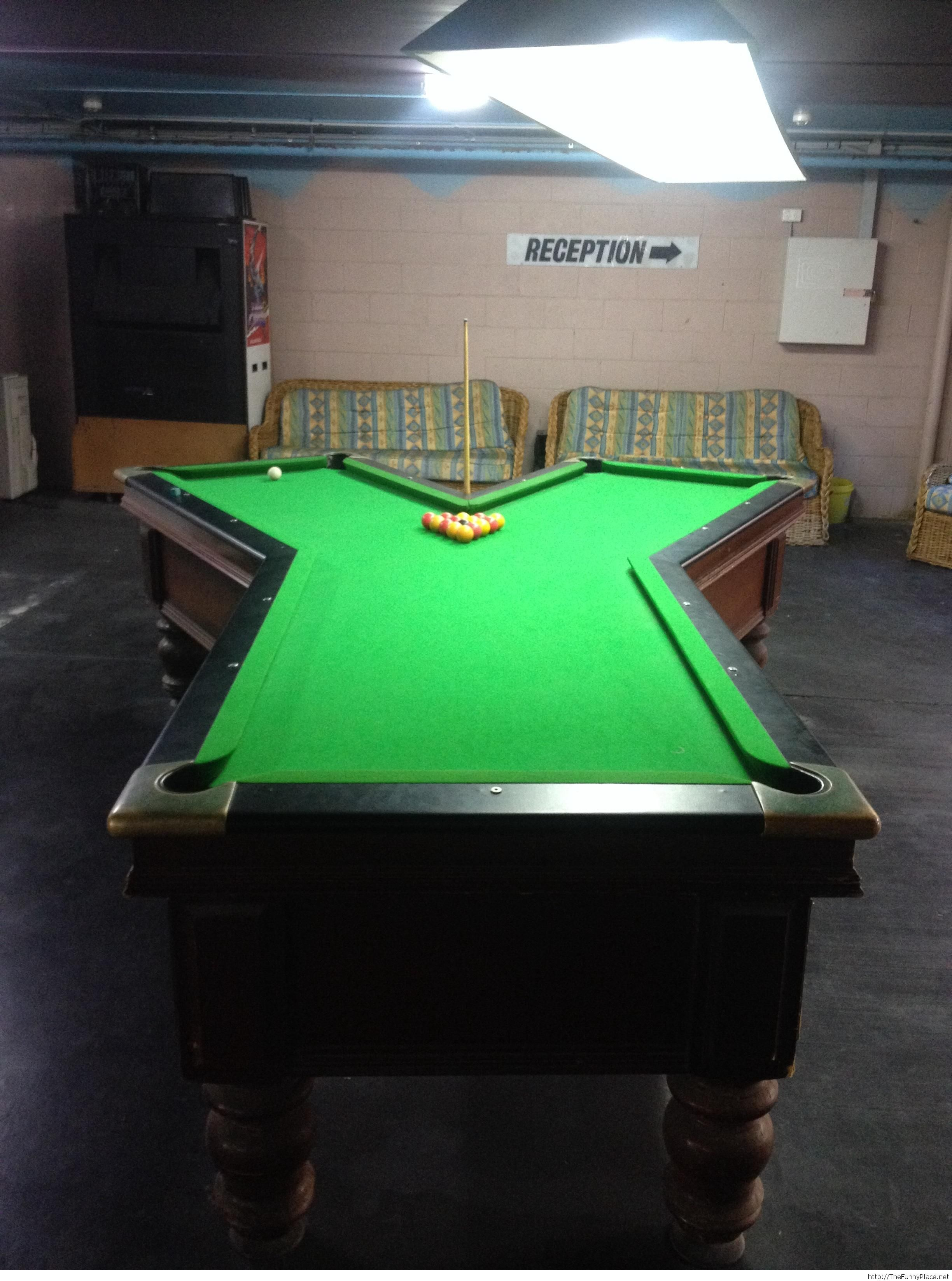 Quite an awesome pool table