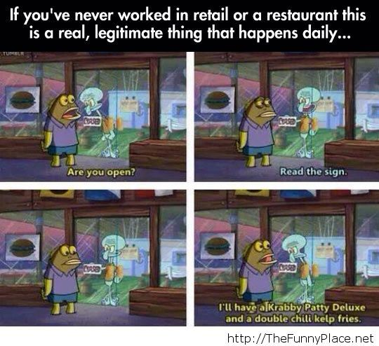 Retail employees know the feeling