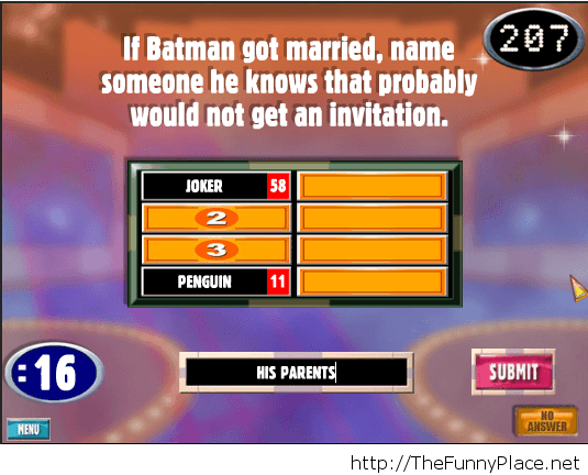 The right answer...