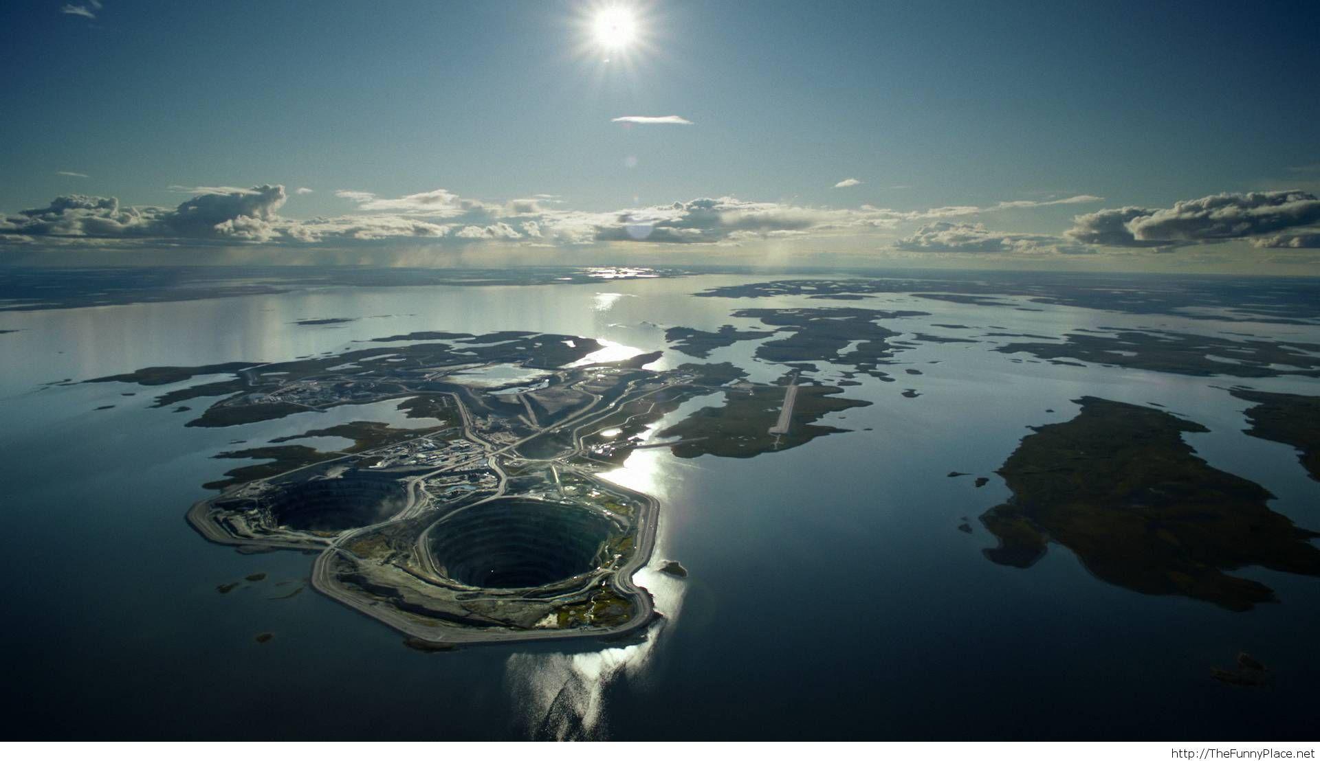 Diamond mine in Canada