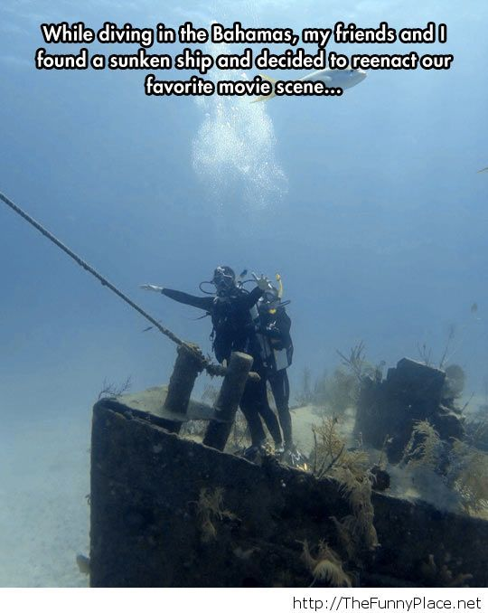 Funny underwater scene