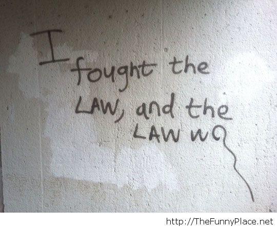 Some clever graffiti