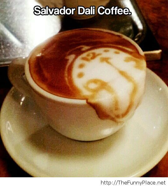 Awesome Dali coffee picture