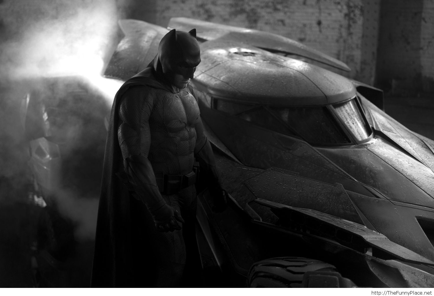 Batfleck and the Batmobile
