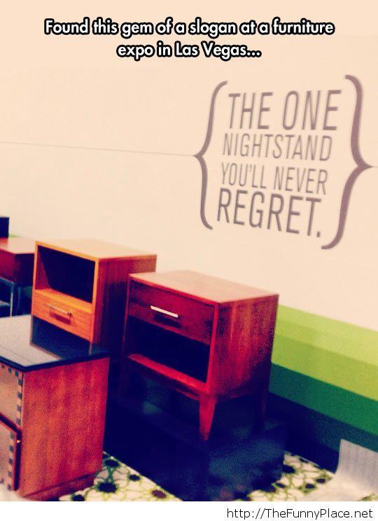 Funny slogan furniture