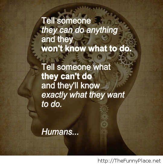 Human nature is strange
