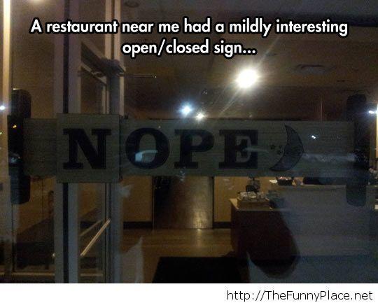 Interestng restaurant sign