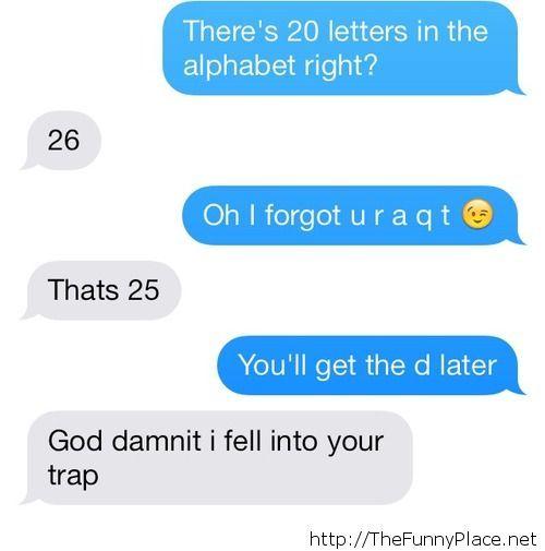 She fell for it