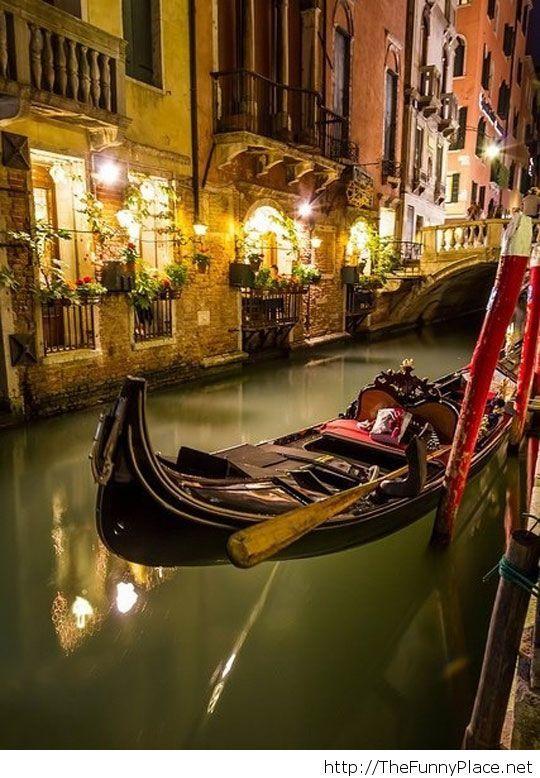 Beautiful Venice at night