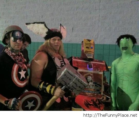 Funny Avengers cosplay