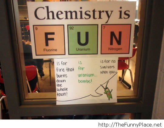 Funny chemistry sign