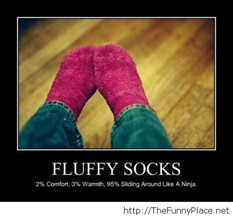 Funny fluffy socks