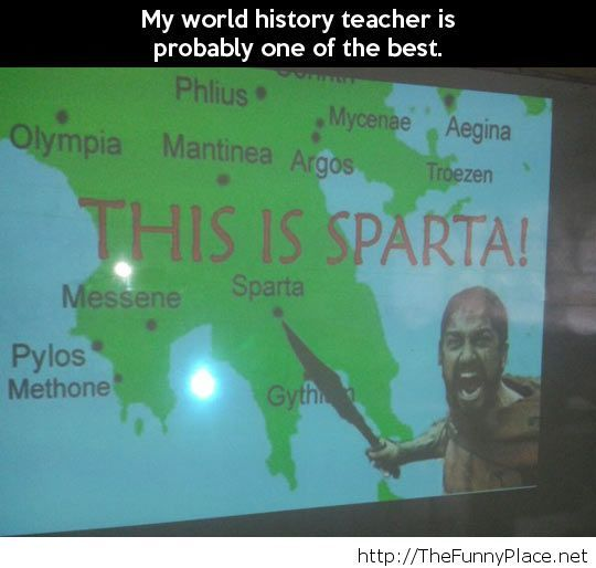 Funny history teacher