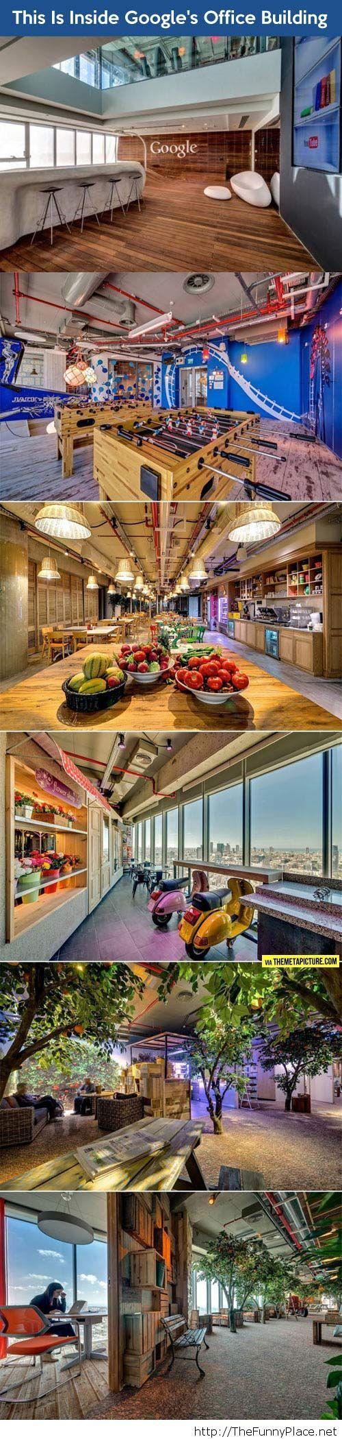 Google's office buildings…