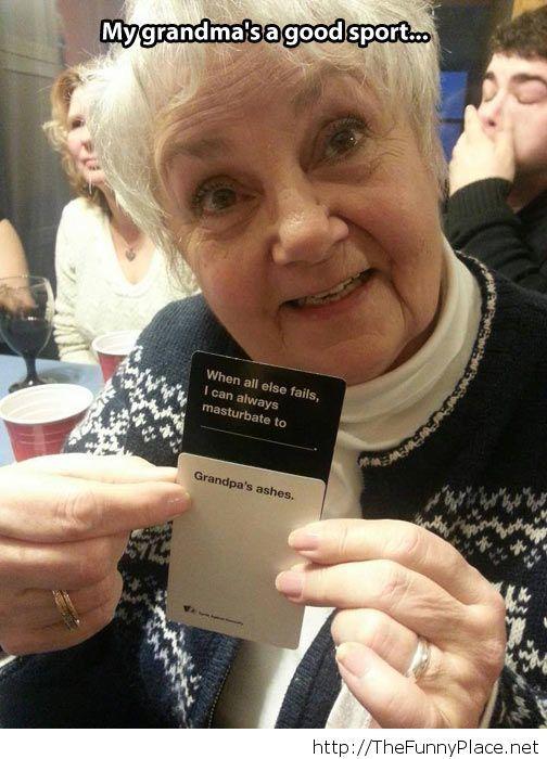 Grandma has a sense of humor