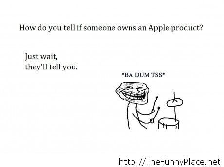 How do you tell if someone owns an Apple product