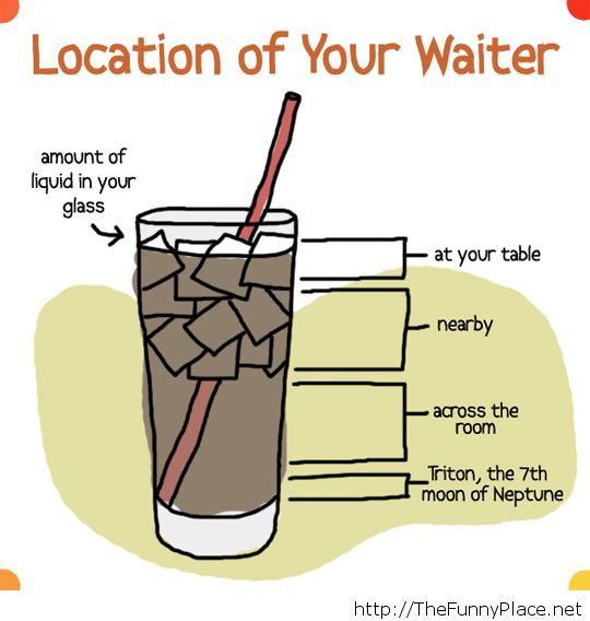 Location of your waiter…
