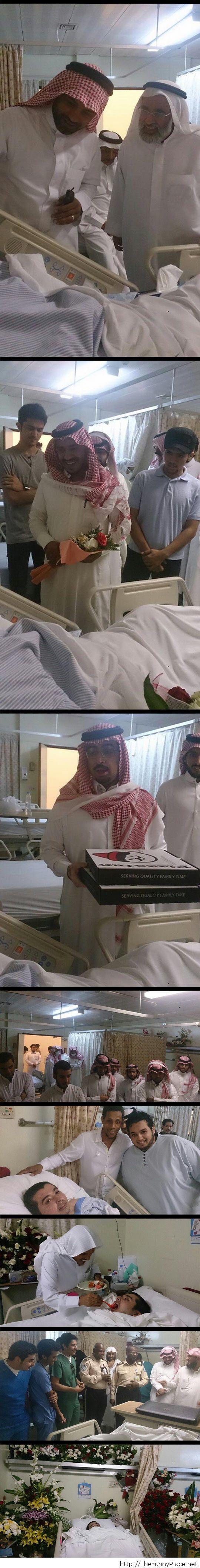 Lonely Saudi boy got a big surprise