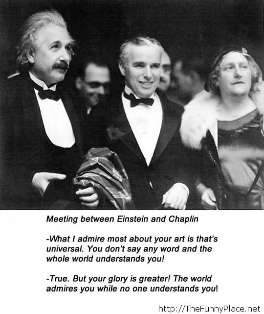 Meeting between Einstein and Chaplin…