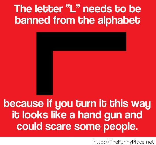 They will blame the alphabet