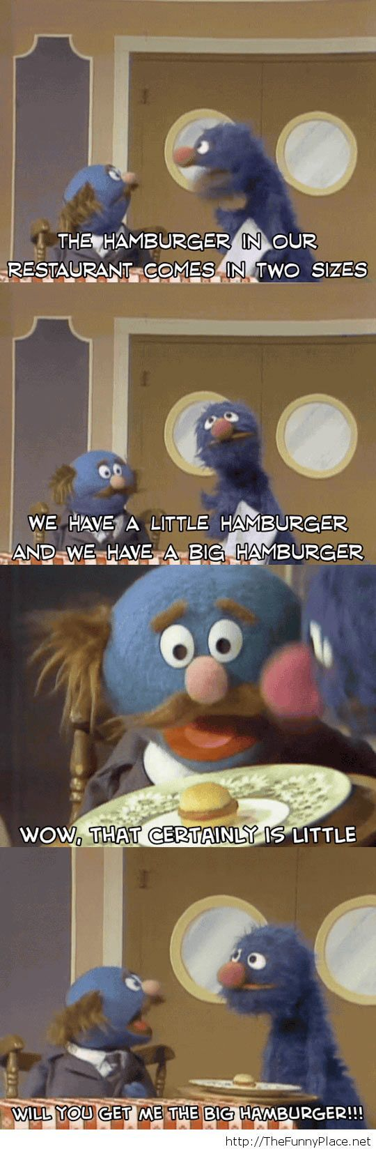 Two sizes for hamburgers