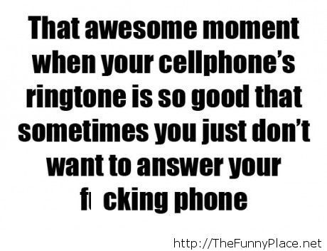 When your cellphone's ringtone is so good