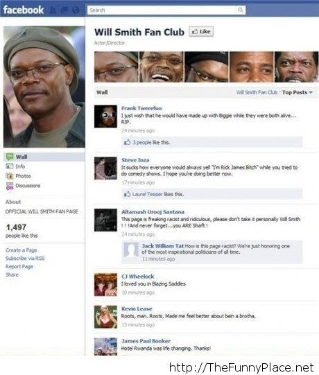 Will Smith fan club Facebook profile