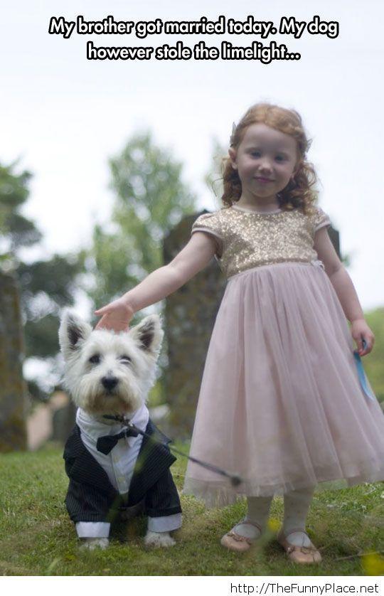 A cute wedding attendant