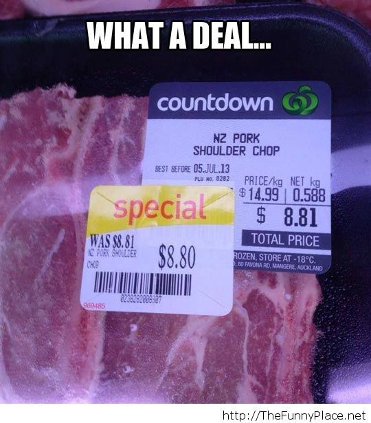 A very great discount