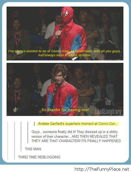 Andrew Garfield at Comic Con